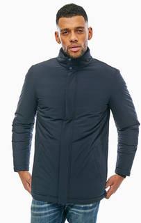 Синяя куртка с воротником-стойкой Geox