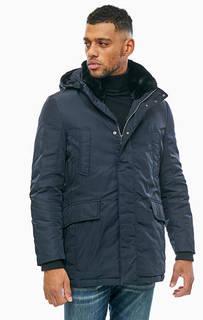 Удлиненная зиняя куртка со съемным капюшоном Geox