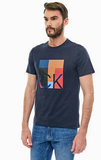 Хлопковая футболка с принтом Calvin Klein