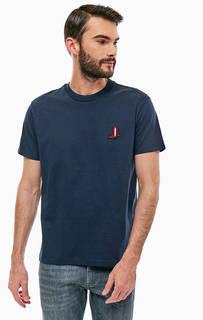 Хлопковая футболка с нашивкой Calvin Klein