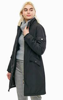 Длинная демисезонная куртка черного цвета Mexx
