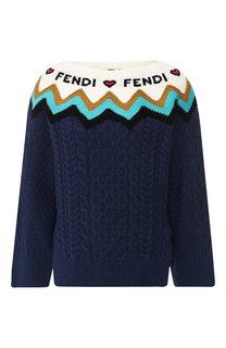 Пуловер из смеси шерсти и кашемира Fendi