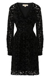 Приталенное платье с V-образным вырезом MICHAEL Michael Kors