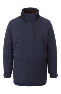 Пуховая куртка на молнии с воротником-стойкой Loro Piana