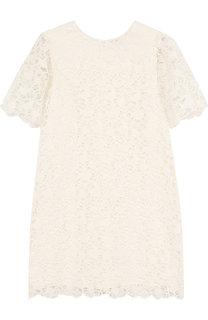 Хлопковое платье с кружевной отделкой Chloé