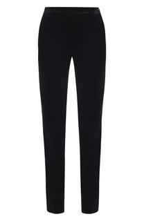 Бархатные брюки прямого кроя Loro Piana