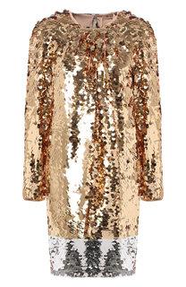 Платье свободного кроя с пайетками No. 21