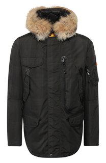 Пуховая куртка на молнии с капюшоном Parajumpers