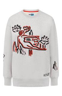 Пуловер из смеси хлопка и шерсти Kenzo