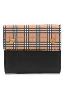 Кожаный кошелек с отделениями для кредитных карт Burberry