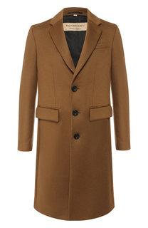 Однобортное пальто из шерсти Burberry