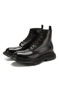 Кожаные ботинки на шнуровке Alexander McQueen