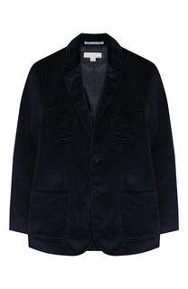 Бархатный пиджак на двух пуговицах Stella McCartney