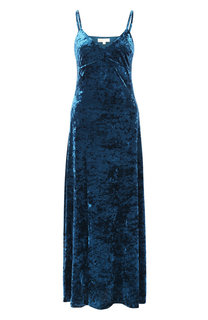 Бархатное платье-миди на бретельках MICHAEL Michael Kors