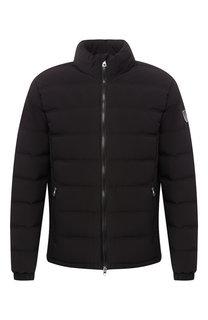 Пуховая куртка на молнии с воротником-стойкой Ea 7