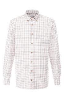 Хлопковая рубашка с воротником button down Van Laack