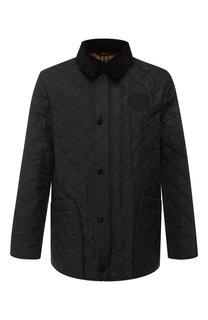Стеганая куртка на молнии с отложным воротником Burberry