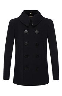 Двубортное пальто из шерсти Burberry