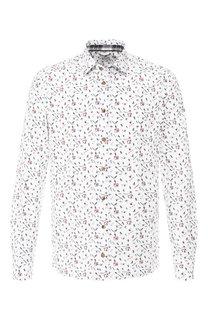 Хлопковая рубашка с воротником кент Van Laack