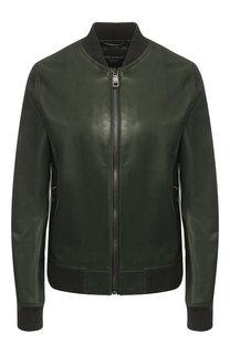 Однотонная кожаная куртка Dolce & Gabbana