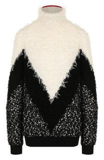 Пуловер свободного кроя с воротником-стойкой Givenchy