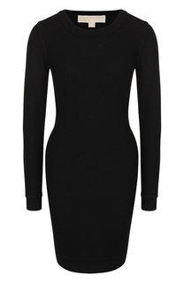 Шерстяное мини-платье с круглым вырезом MICHAEL Michael Kors