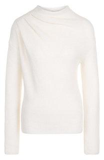 Вязаный пуловер из смеси кашемира и шерсти Giorgio Armani