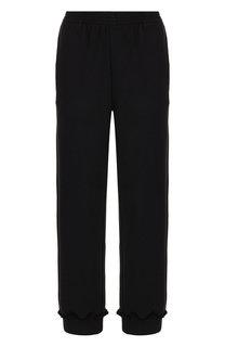 Укороченные хлопковые брюки с эластичным поясом Mm6
