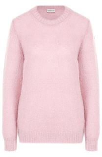 Однотонный пуловер с круглым вырезом Moncler