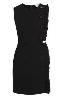 Приталенное мини-платье с оборками MSGM