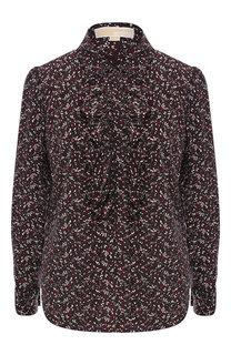 Шелковая блуза с принтом MICHAEL Michael Kors