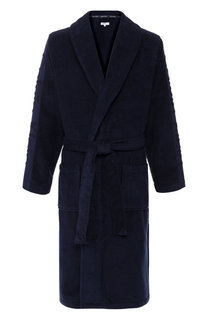 Хлопковый халат с поясом и шалевым воротником Calvin Klein Underwear