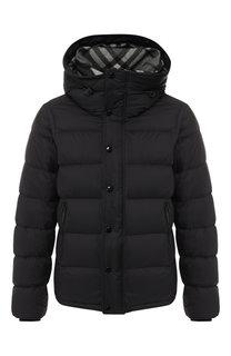 Пуховая куртка на молнии с капюшоном Burberry