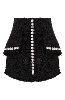 Буклированная мини-юбка с контрастными пуговицами Alexander Wang