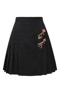 Мини-юбка со складками и декоративной отделкой Dolce & Gabbana