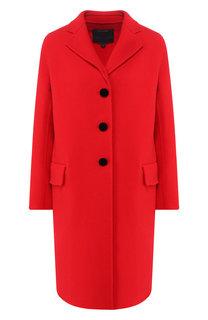 Шерстяное пальто с отложным воротником Marc Jacobs