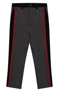 Хлопковые брюки с отделкой Dolce & Gabbana