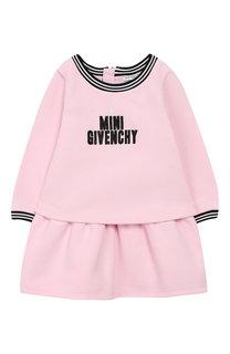 Хлопковое платье с логотипом бренда Givenchy