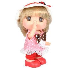 """Мини-кукла Lotus """"Mademoiselle GeGe"""" в розовом платье в горошек, 15 см"""