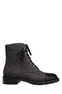 Шерстяные ботинки с кожаным мысом Portal