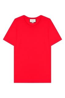 Красная футболка из хлопка Gucci