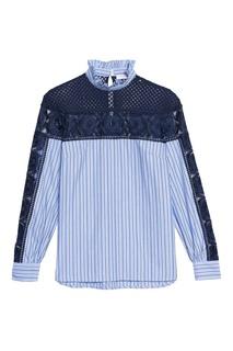 Комбинированная рубашка Sandro