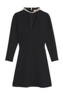 Короткое черное платье Sandro