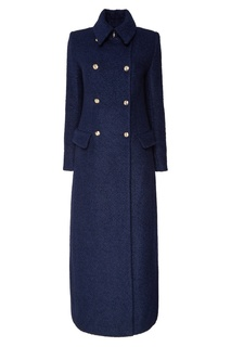 Синее двубортное пальто Terekhov Girl
