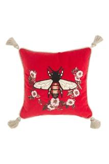 Диванная подушка с вышитой пчелой Gucci