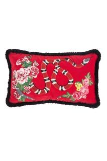 Диванная подушка с королевской змеей Gucci