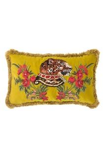 Диванная подушка с вышитым леопардом Gucci