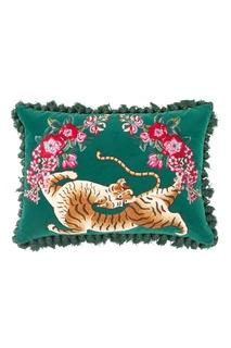 Диванная подушка с вышитым тигром Gucci