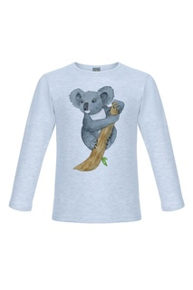 Голубой лонгслив с коалой Lisa&Leo
