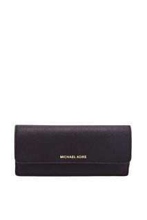 Черный кошелек с логотипом Money Pieces Michael Michael Kors